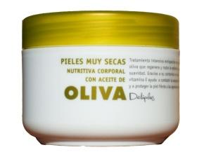 Crema nutritiva con aceite de oliva